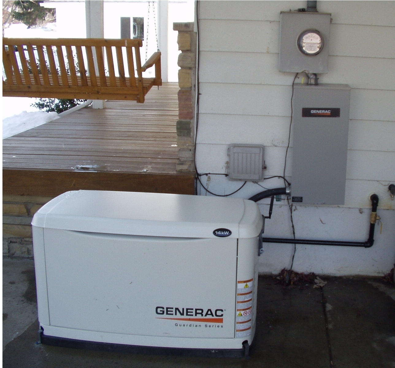 Air Cooled Generac Guardian Series Generator
